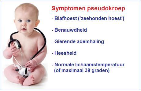 Pseudokroep symptomen